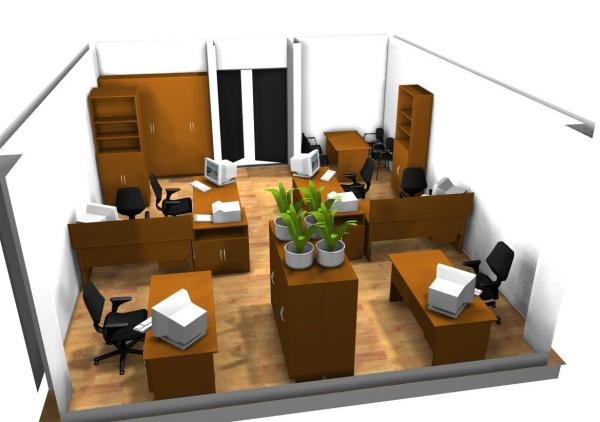 arrangement bureau une bonne disposition