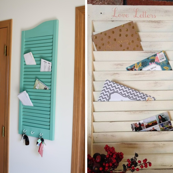 boîte aux lettres à faire soi-même volet de fenêtre