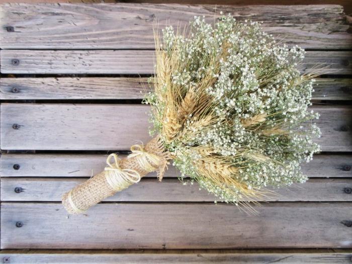 bouquet de mariée champêtre épi de blé