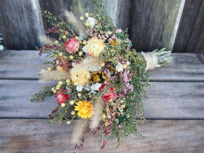 bouquet de mariée champêtre