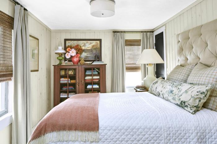 chambre cocooning adulte tête de lit rembourrée