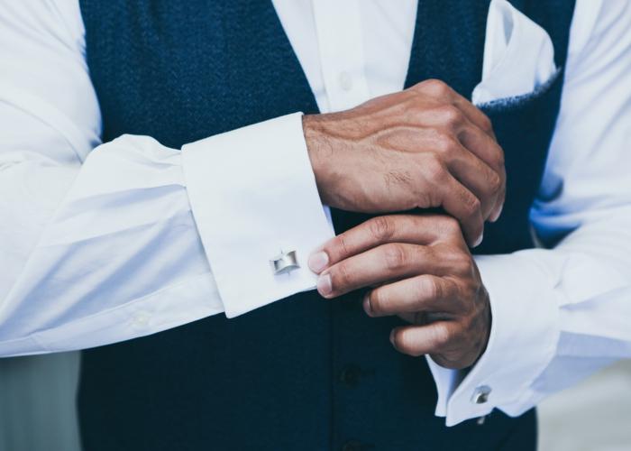 chemise et boutons de manchette style vestimentaire homme