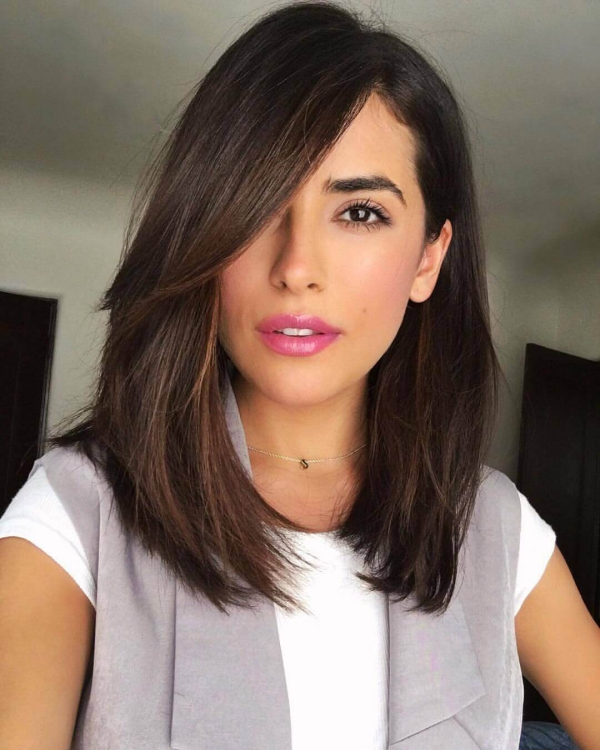 coupe cheveux femme 2019 longue frange