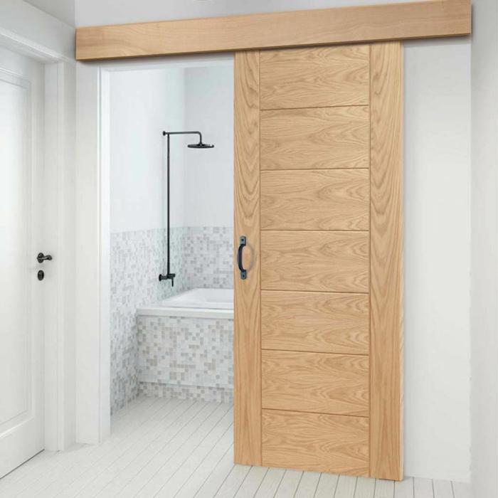 déco salle de bains portes coulissantes