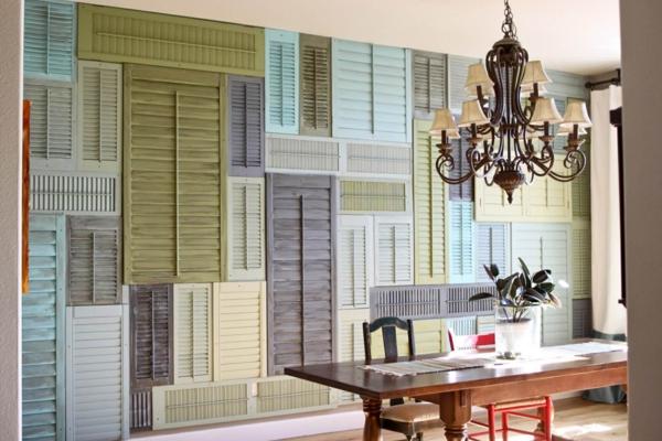 déco vintage diy mur décoratif volet fenêtre