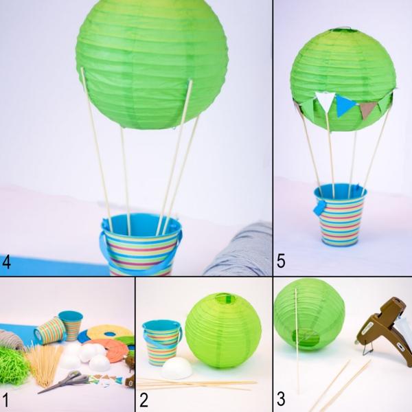 diy déco ballon volant en lanterne chinoise