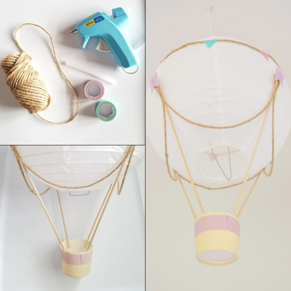 diy déco ballon volant en lanterne de papier de riz