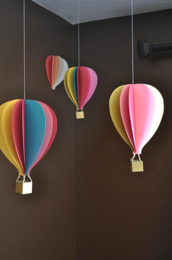 diy déco ballon volant en papier coloré