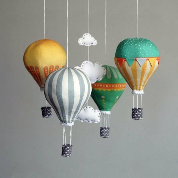 diy déco ballon volant en textile