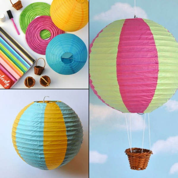 diy déco ballon volant en utilisant une lanterne chinoise