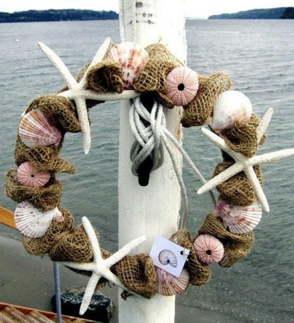 diy déco bord de mer couronne oursins