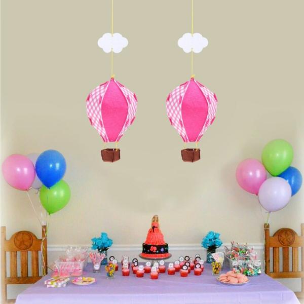 diy déco d'anniversaire ballon volant en textile