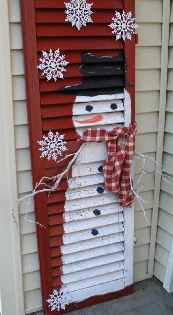 diy déco noël extérieur volet fenêtre