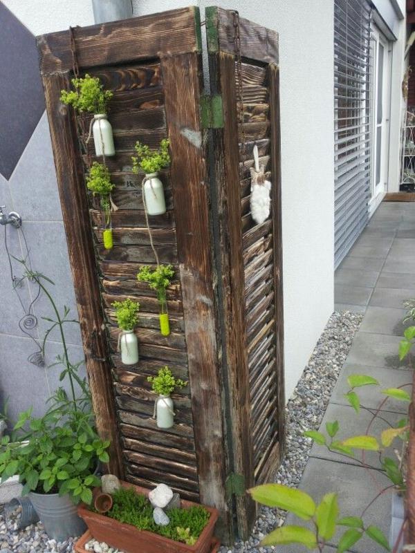 diy jardin vertical volet fenêtre