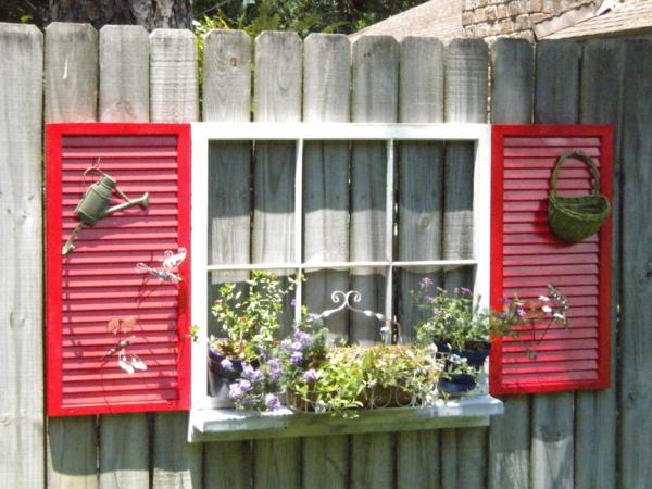 diy jardinière suspendue clôture de jardin volet fenêtre