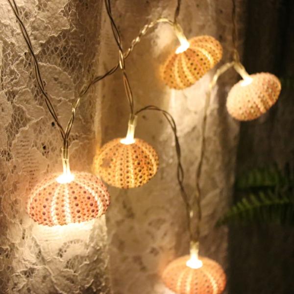 diy lampes led oursins