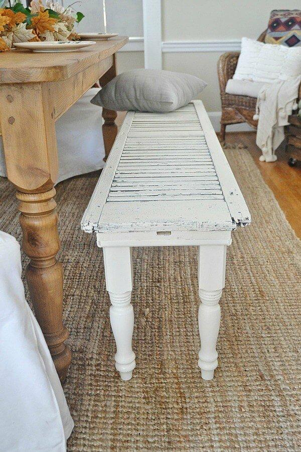 diy mobilier intérieur banc de volet fenêtre