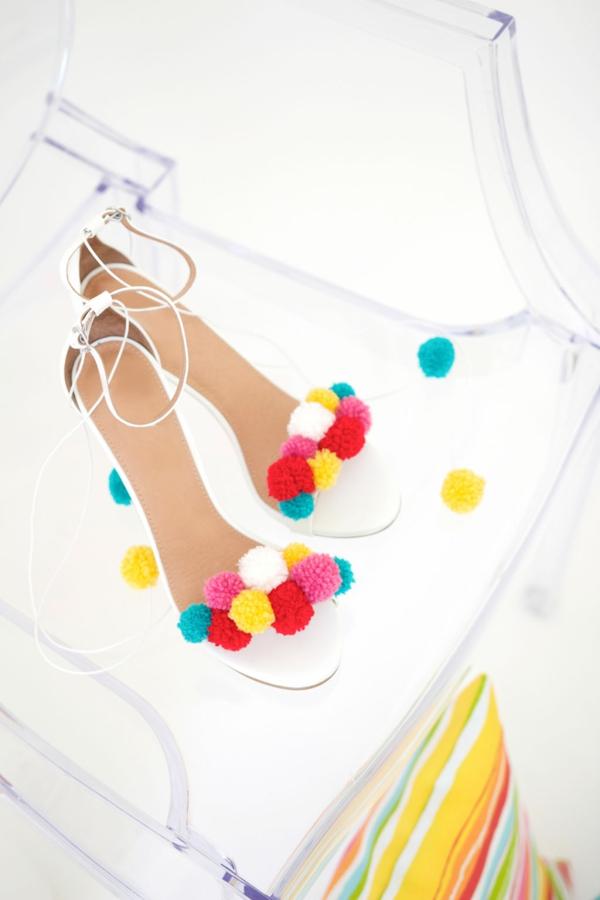 diy sandales pompon tendance pour femme