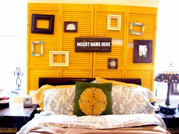 diy tête de lit créative volet fenêtre