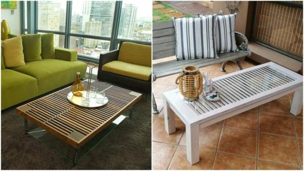 diy table à café à partir de volet fenêtre