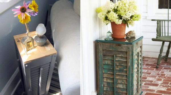 diy table d'appoint volet fenêtre