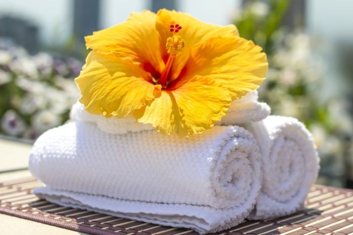 drap de bain parfumé idée recette adoucissant maison