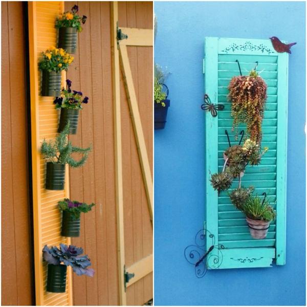 fabriquer mur végétal volet fenêtre