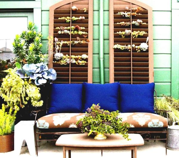 fabriquer un mur végétal pour extérieur volet fenêtre