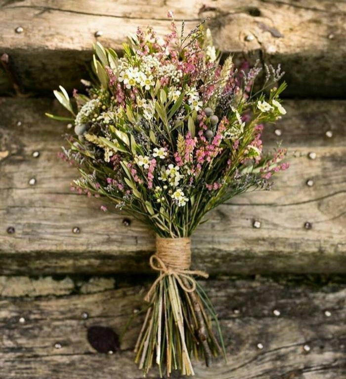 fleurs sauvages bouquet de mariée champêtre