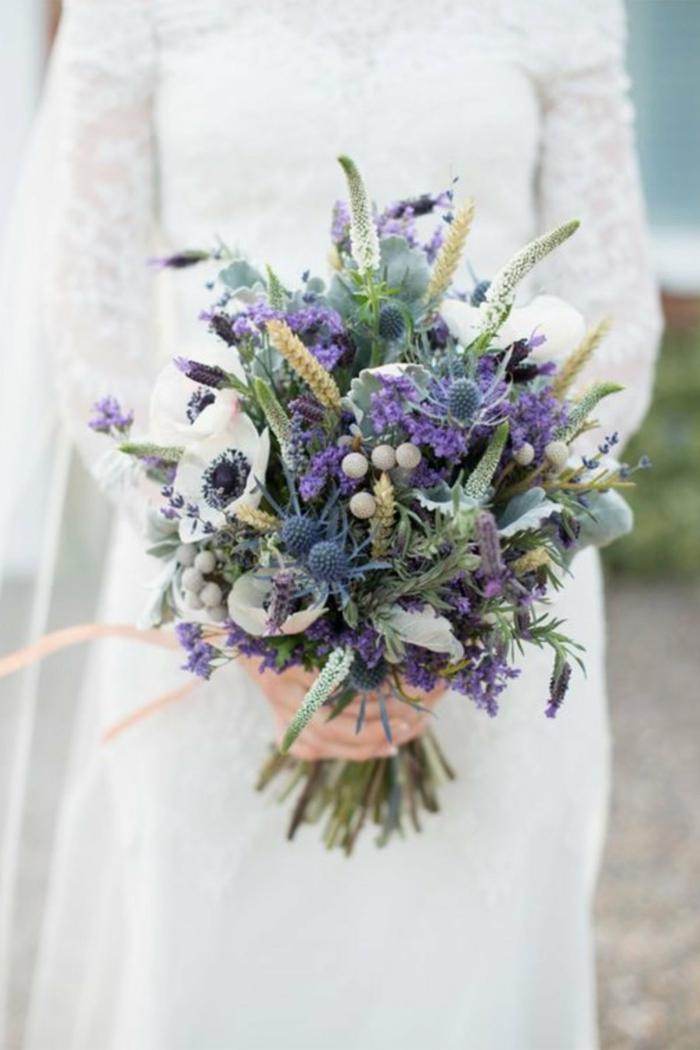 fleurs sauvages idée bouquet de mariée champêtre