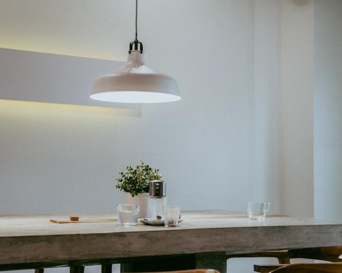 idée déco salle à manger luminaire design
