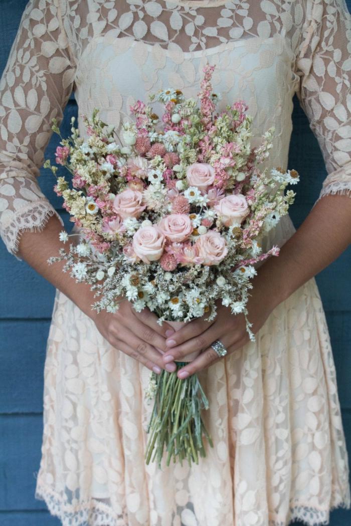idée de bouquet de mariée champêtre