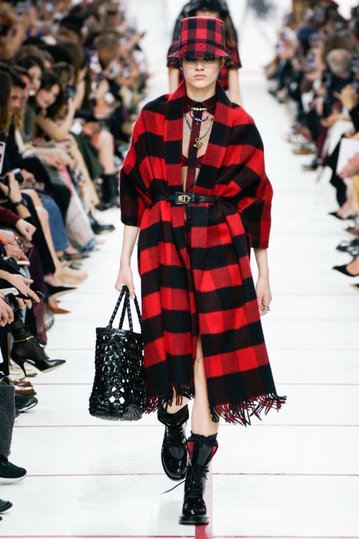 idée mode femme carreaux tendances automne hiver 2019 2020