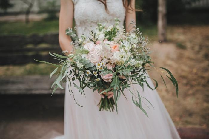 inspiration de bouquet de mariée champêtre