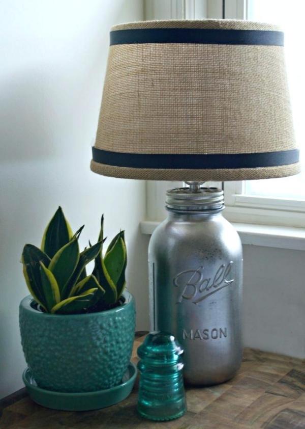 lampe chevet bouteille bronzée