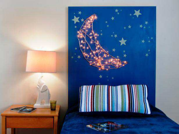 lampe chevet couleur bleue