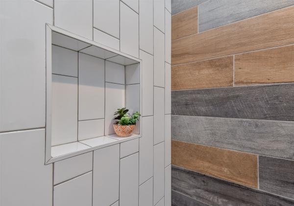 le carrelage salle de bain carreaux et du bois
