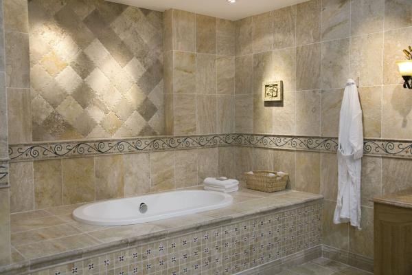 le carrelage salle de bain en couleur beige
