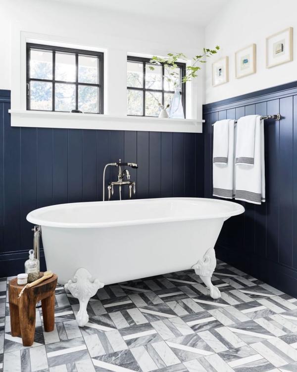 le carrelage salle de bain en style vintage