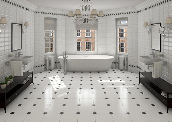 le carrelage salle de bain grande salle de bains