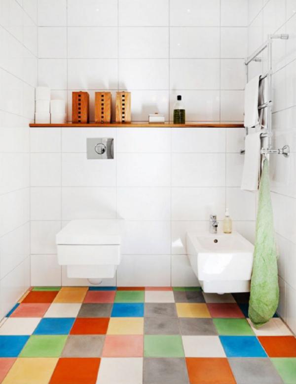 le carrelage salle de bain murs en blanc