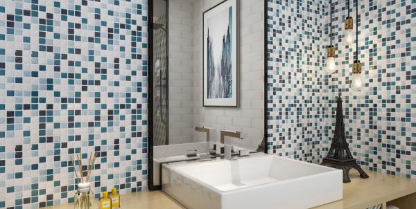 le carrelage salle de bain petits carreaux