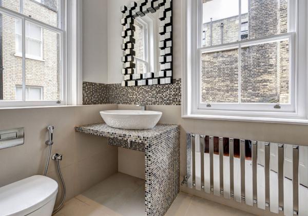 le carrelage salle de bain très petits carreaux