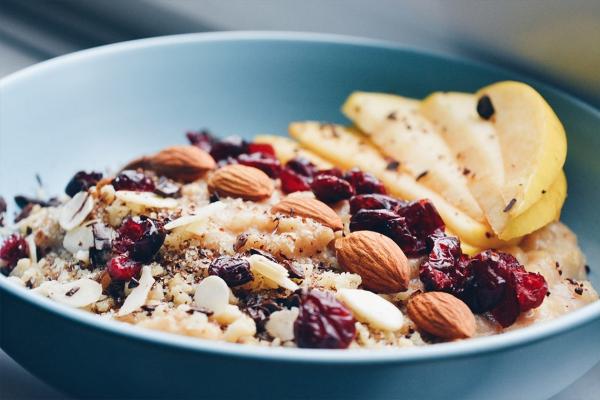 les bienfaits du jogging gruaux et fruits secs