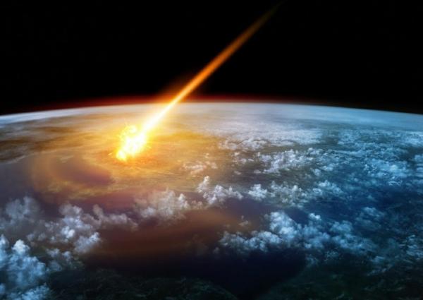 météore pénétrant dans l'atmosphère terrestre