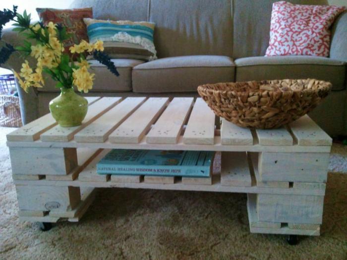 meubles en palette deux palettes superposées