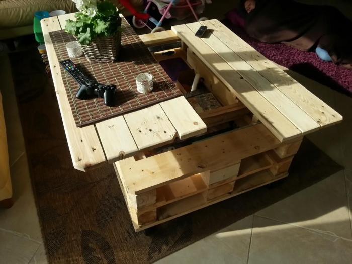 meubles en palette grande table