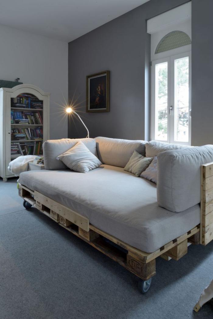 meubles en palette lit-canapé