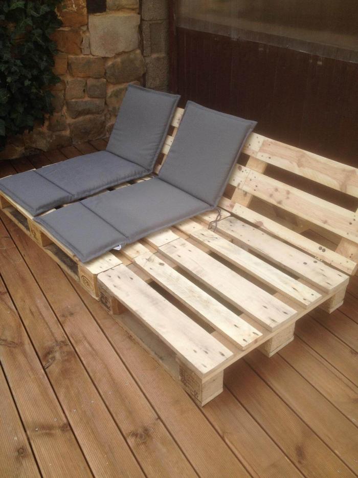 meubles en palette pour la terrasse