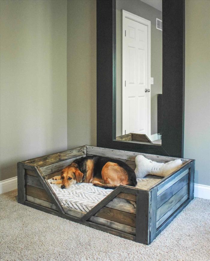 meubles en palette pour votre chien